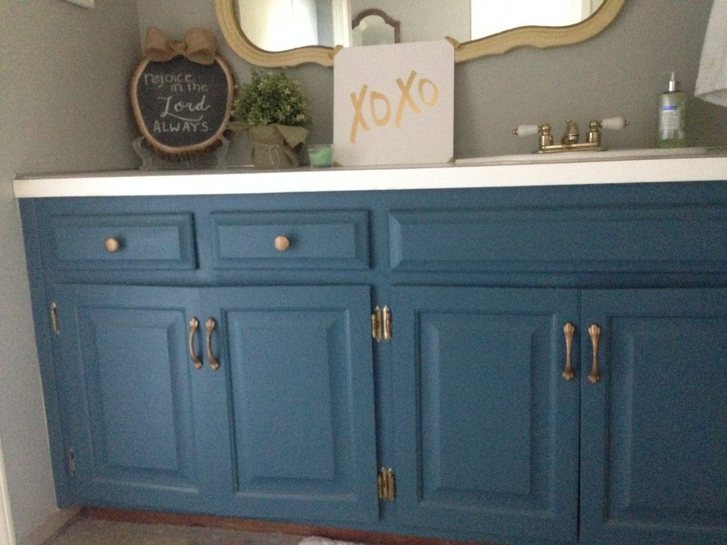Painting Master Bathroom Vanity With Chalk Paint All Things New