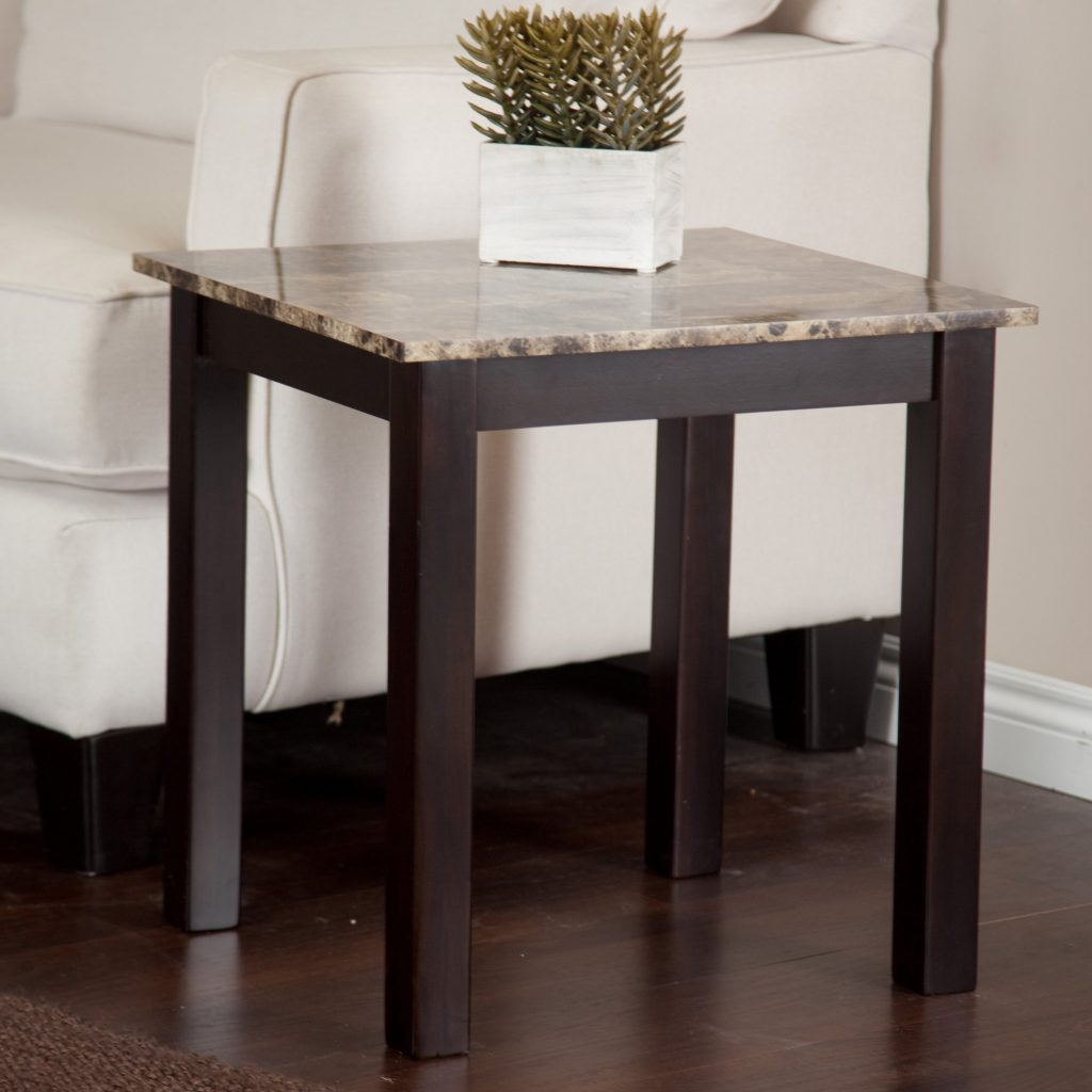 Palazzo Faux Marble End Table Hayneedle