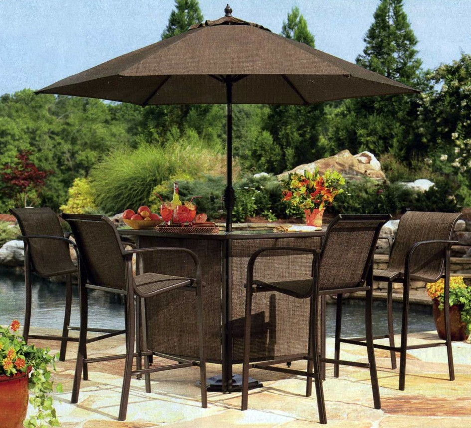 Patio Dining Sets With Umbrella Amepac Furniture