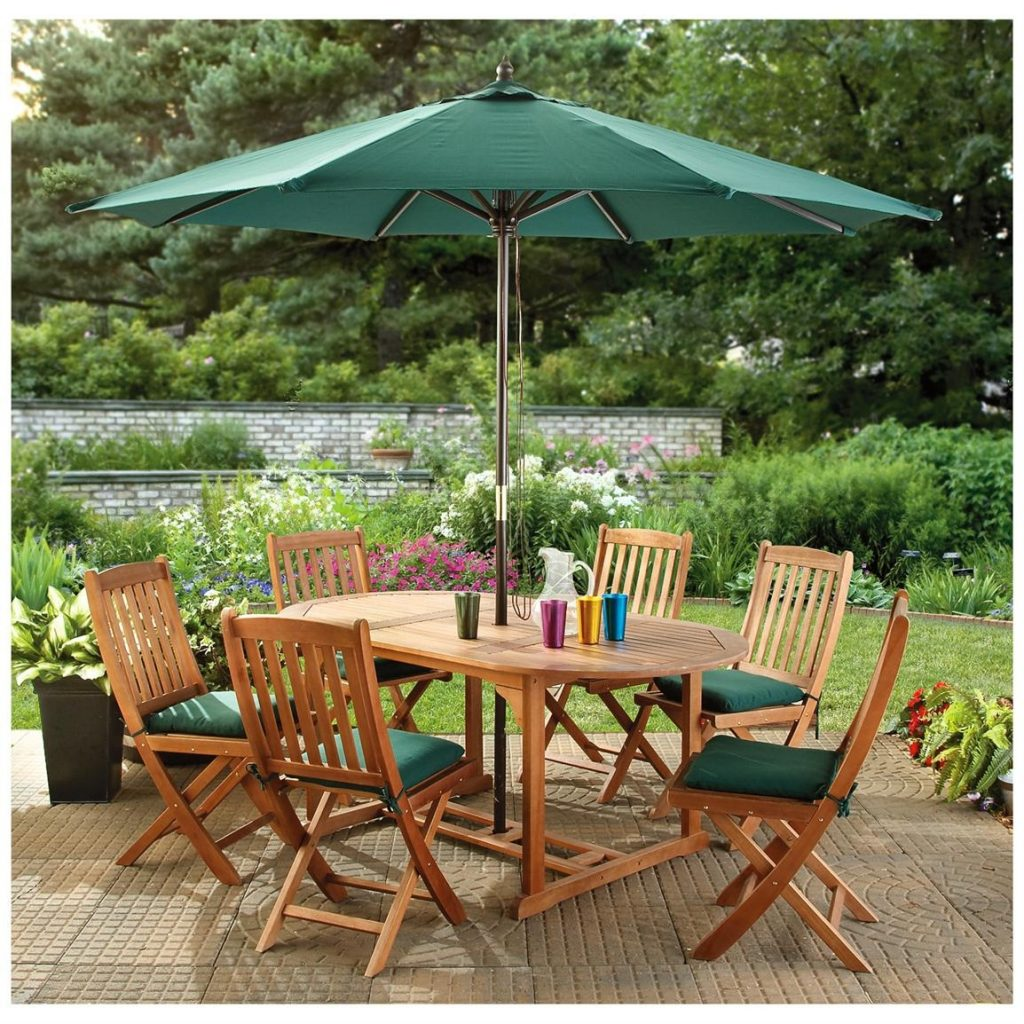 Patio Furniture With Umbrella Ideas Life On The Move Decorating