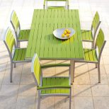 Polywood Rectangle Dining Table Recycled Plastic Outdoor