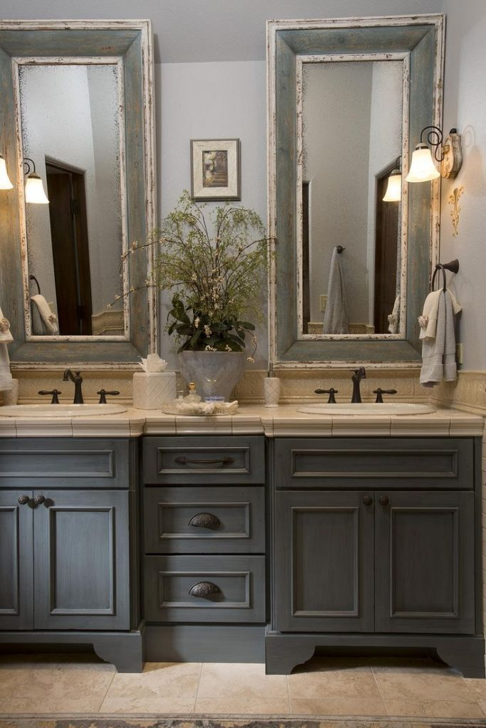 Pretty Country Style Bathroom Vanity High Definition For Your