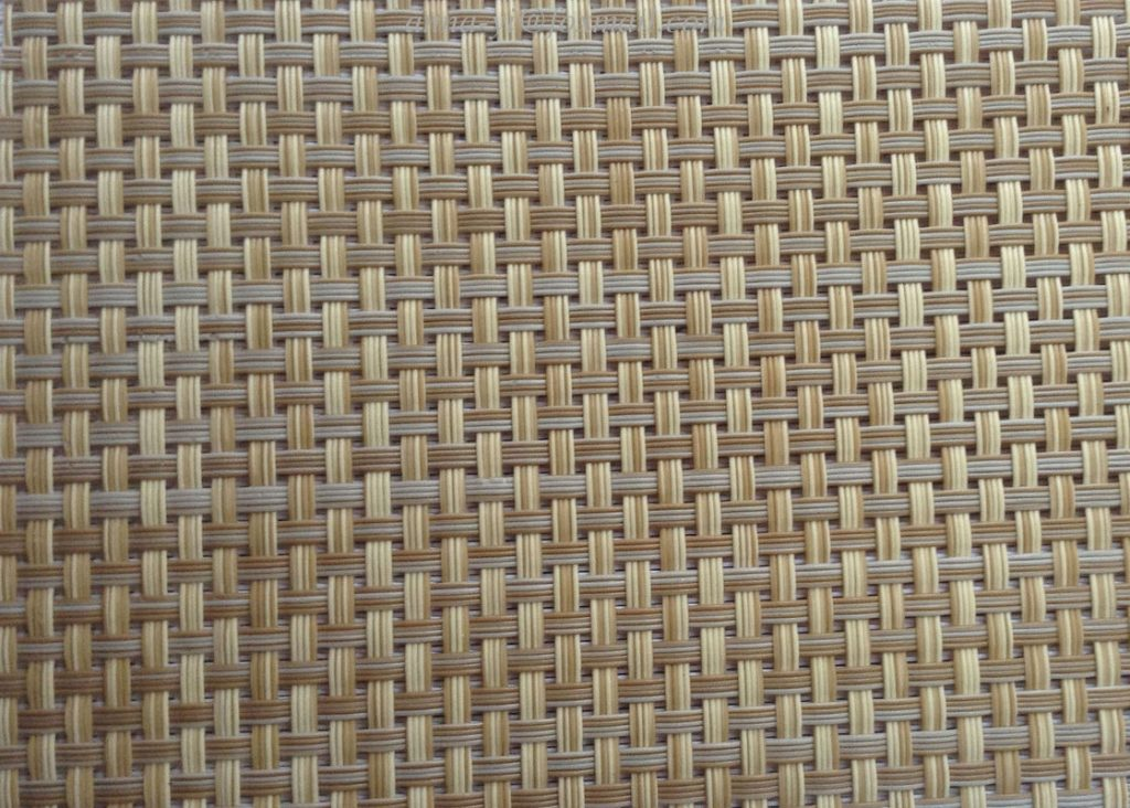 Rattan Color Textilene Fabric In Pvc Coated Mesh Fabric Cloth For