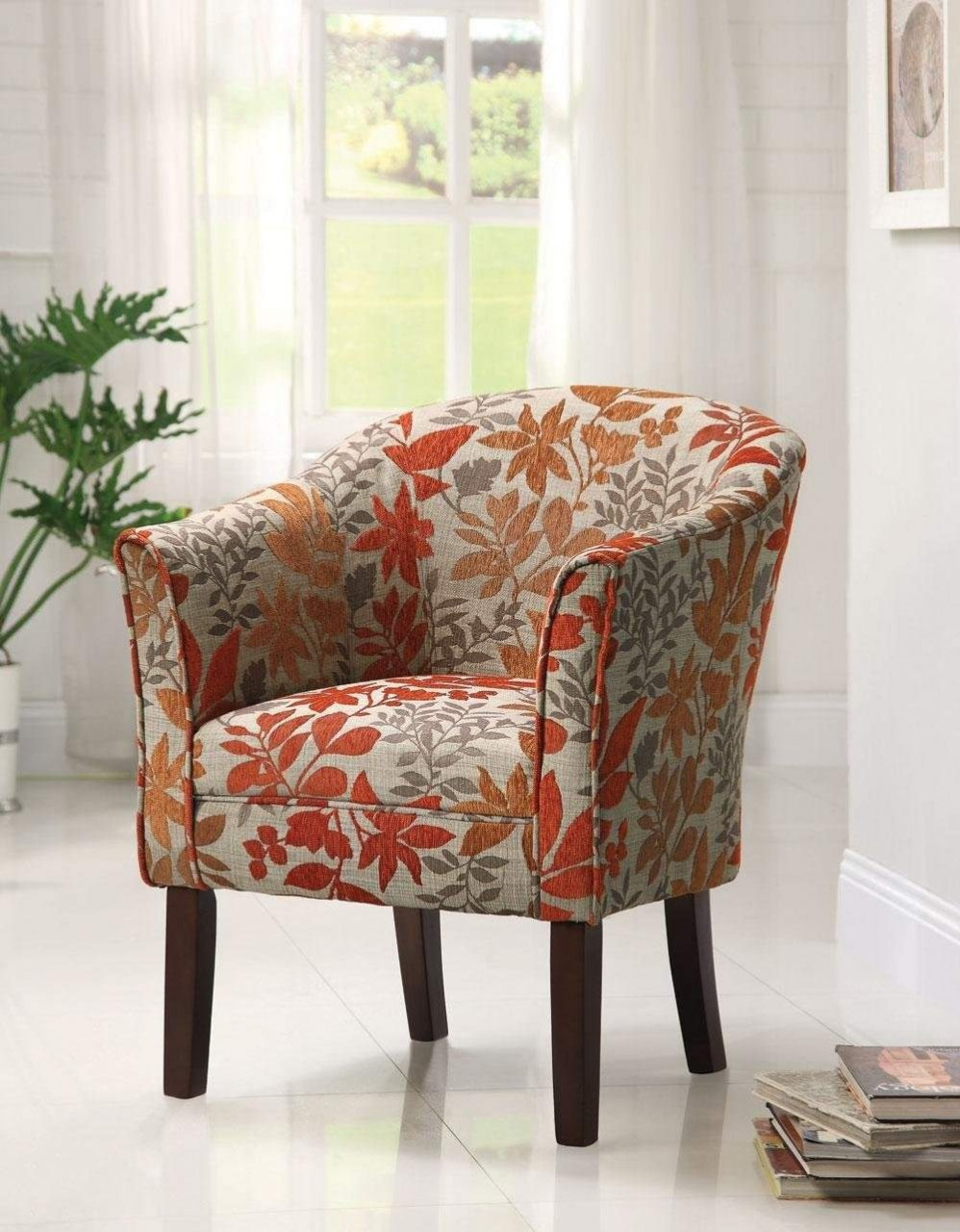 Red Accent Chairs For Living Room Upholstered Lovely Chair With Arms