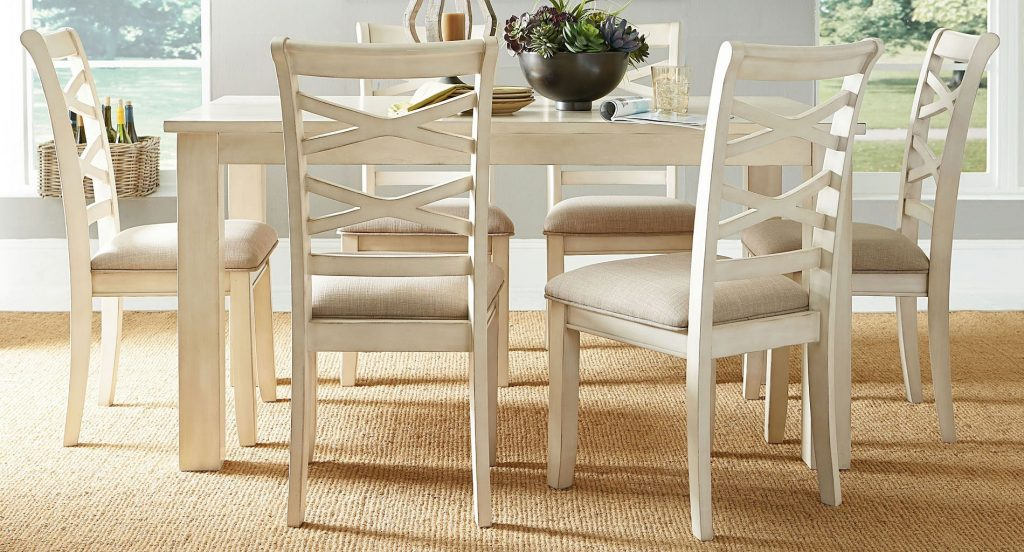 Redondo 7 Piece Dining Room Set Vintage Vanilla Standard Furniture