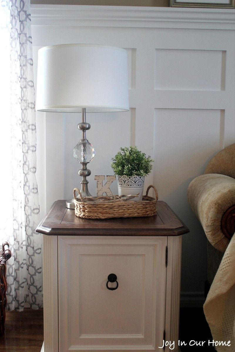 Repurposed Living Room End Table Thrifted Item Makeover House To