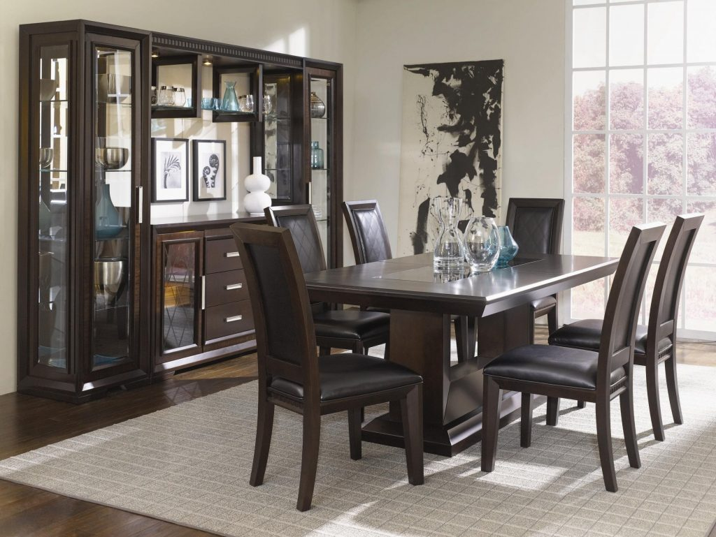 Room Sets With China Cabinet Set Imanlive 7 Intended For Modern From