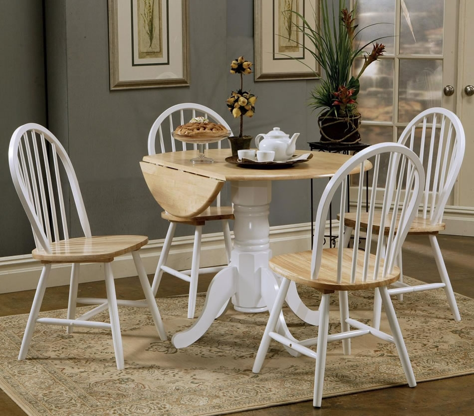 Round Kitchen Table With Leaf 36 48 72 Solarlinebg