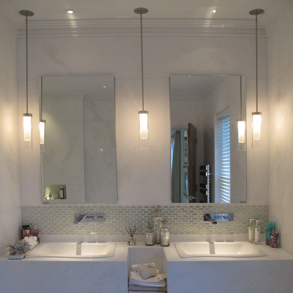 Rustic Bathroom Pendant Lighting Lindsay Decor Peak Of Bathroom