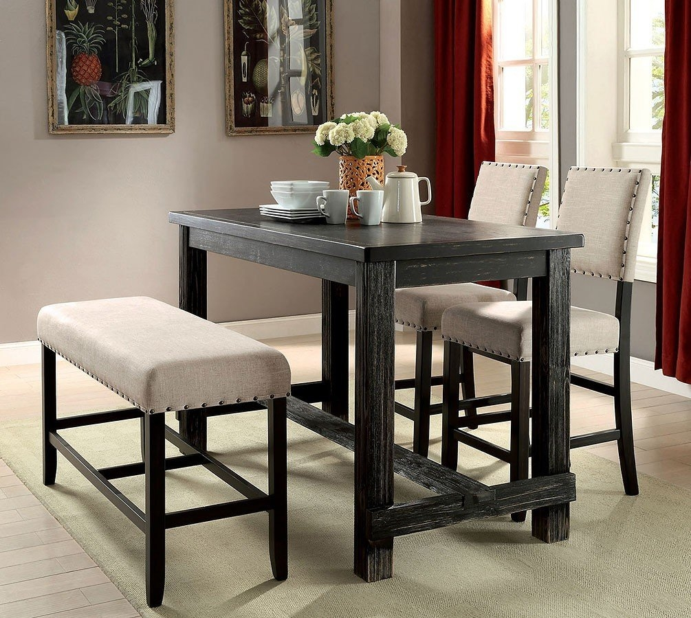 Sania Ii Counter Height Dining Room Set W Bench Casual Dining