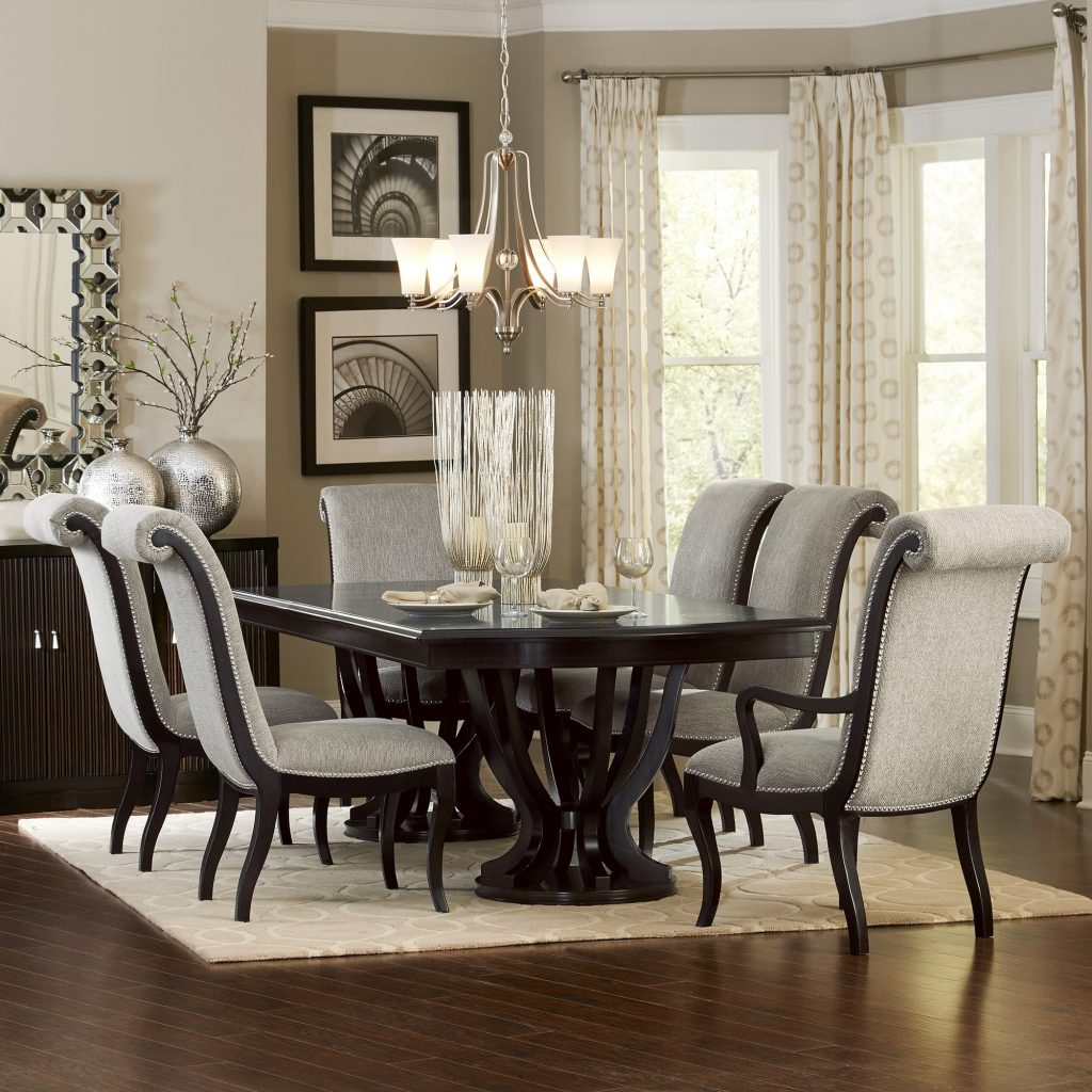 Savion Espresso Dining Room 7pc Set For 197994 Furnitureusa