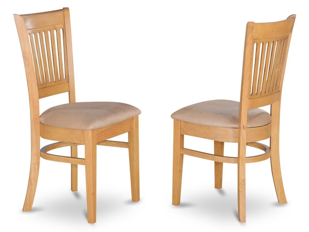 Set Of 2 Vancouver Dining Room Chairs With Wood Or Cushion Resin