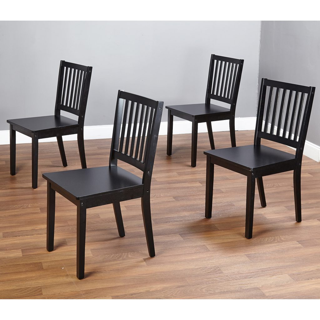 Shaker Dining Chairs Set Of 4 Espresso Walmart