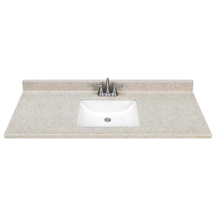 Shop Dune Solid Surface Integral Bathroom Vanity Top Common 49 In