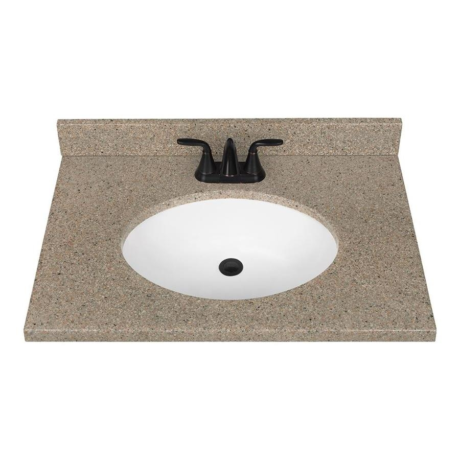 Shop Nutmeg Solid Surface Integral Bathroom Vanity Top Common 31