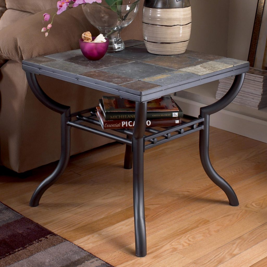 Signature Design Ashley Antigo Slate Top Square End Table Value