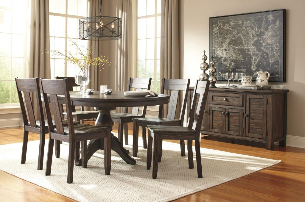 Signature Design Ashley Trudell Solid Wood Pine Dining Room Side