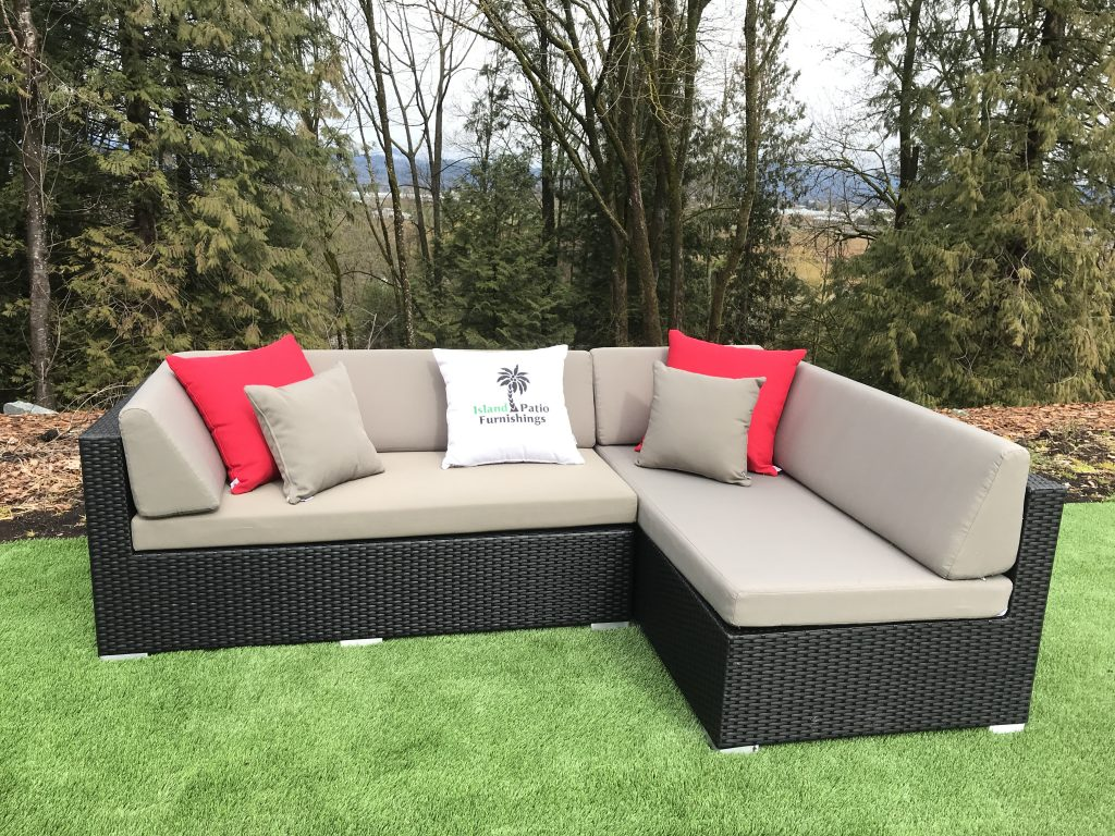 Small L With Chaise Lounge Sectional Island Patio Furniture