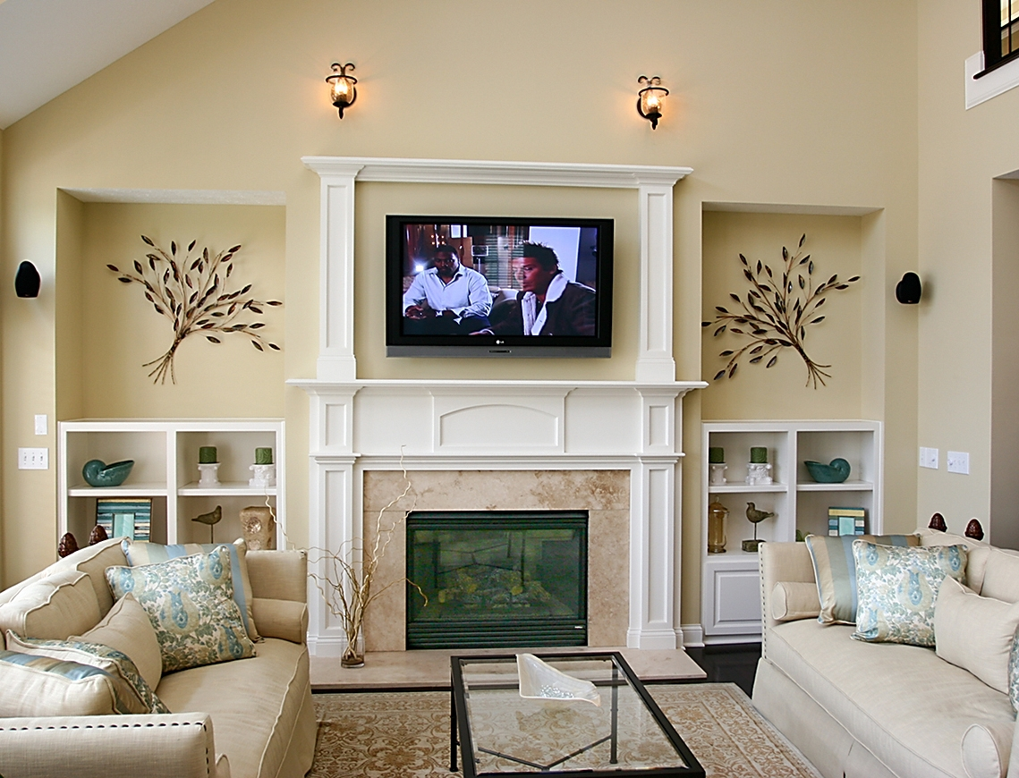 Living Room Fireplace Ideas With Tv Image Fireplace Ideas