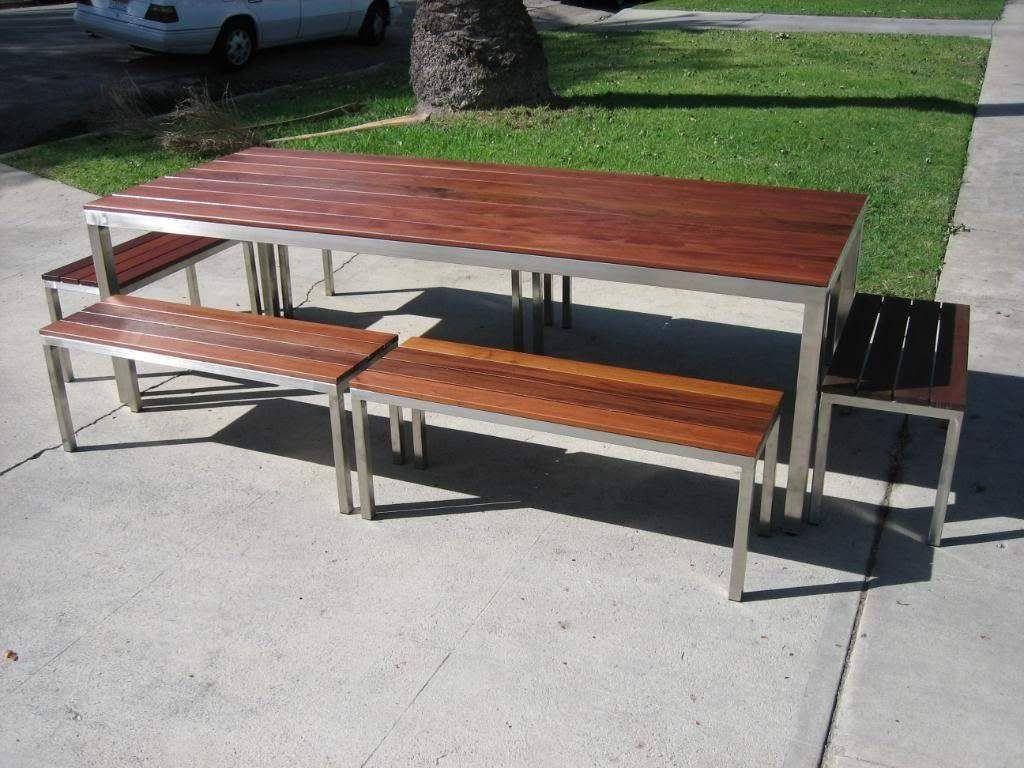 Stainless Steel And Wood Outdoor Furniture Los Angeles Ca Custom