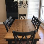 Steel X Base Table Pine Farmhouse Tables Pinterest Local