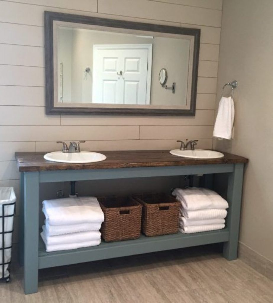 Stylish Farm Style Bathroom Vanity With Bathroom Vanities