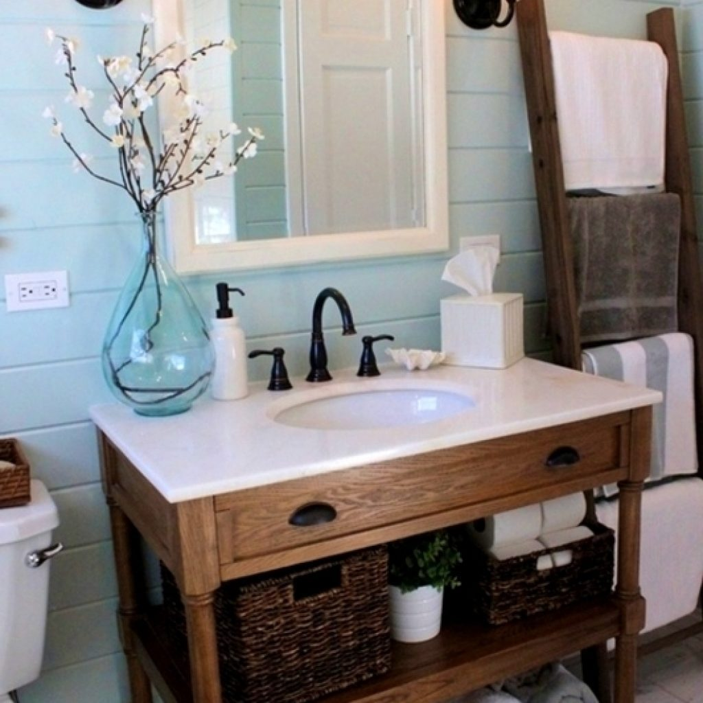 Stylist Ideas Bathroom Vanity Farmhouse Style Interior Decorating