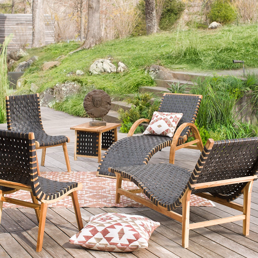 Teak And Recycled Rubber Outdoor Furniture Collection Vivaterra