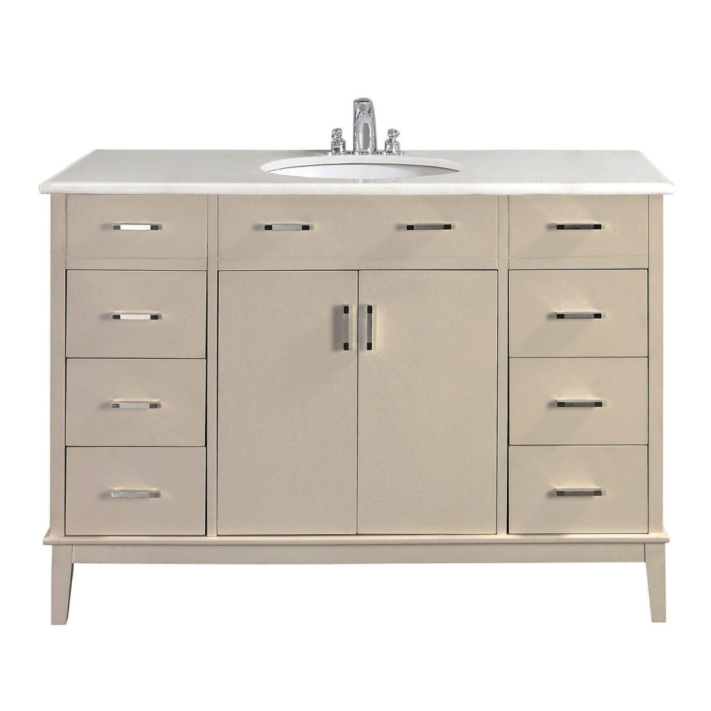 The 48 Inch Oxford Bathroom Vanity Is Defined Its White Finish