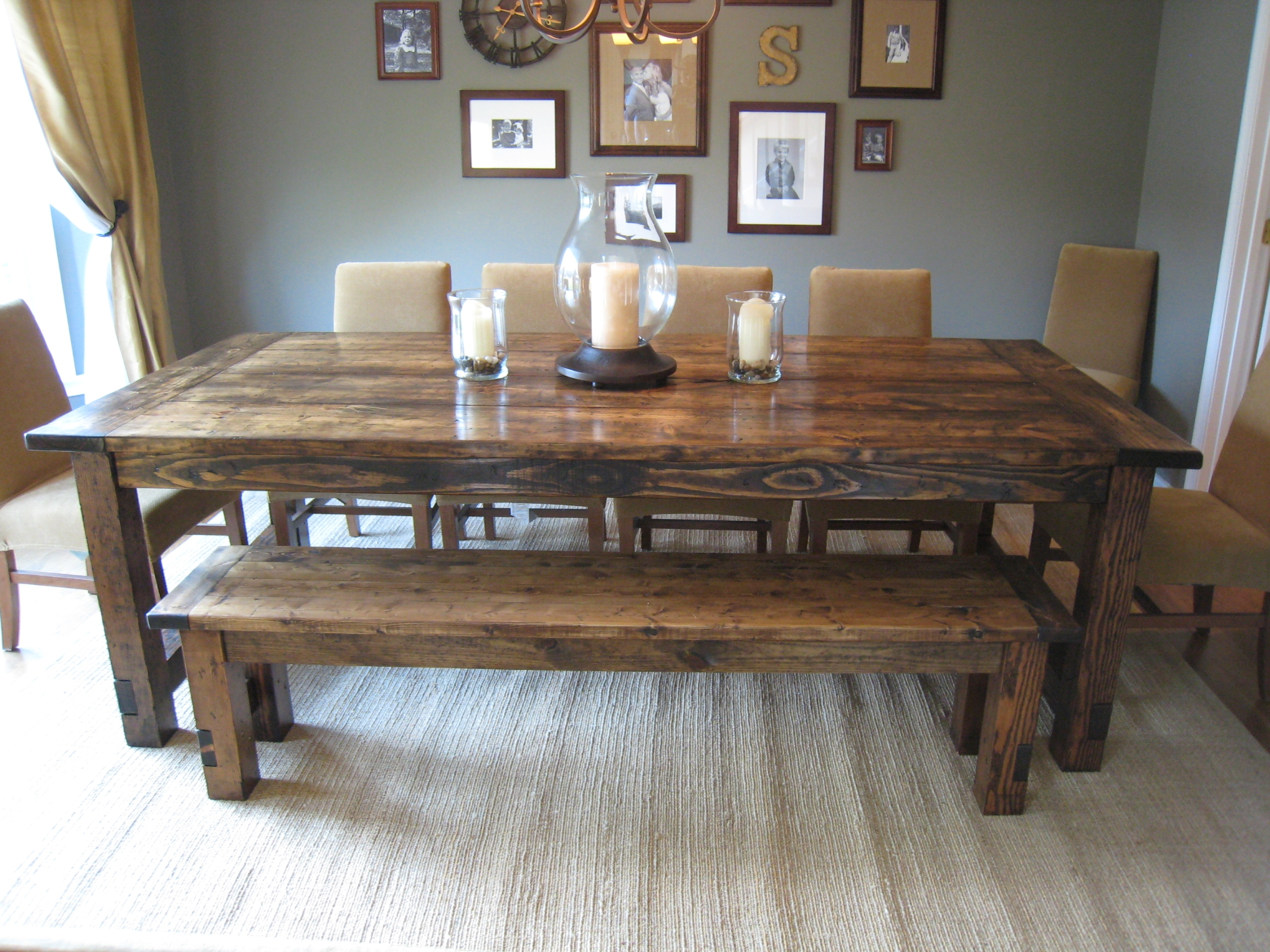 The Perfect Awesome Large Dining Table With Bench Photo ...
