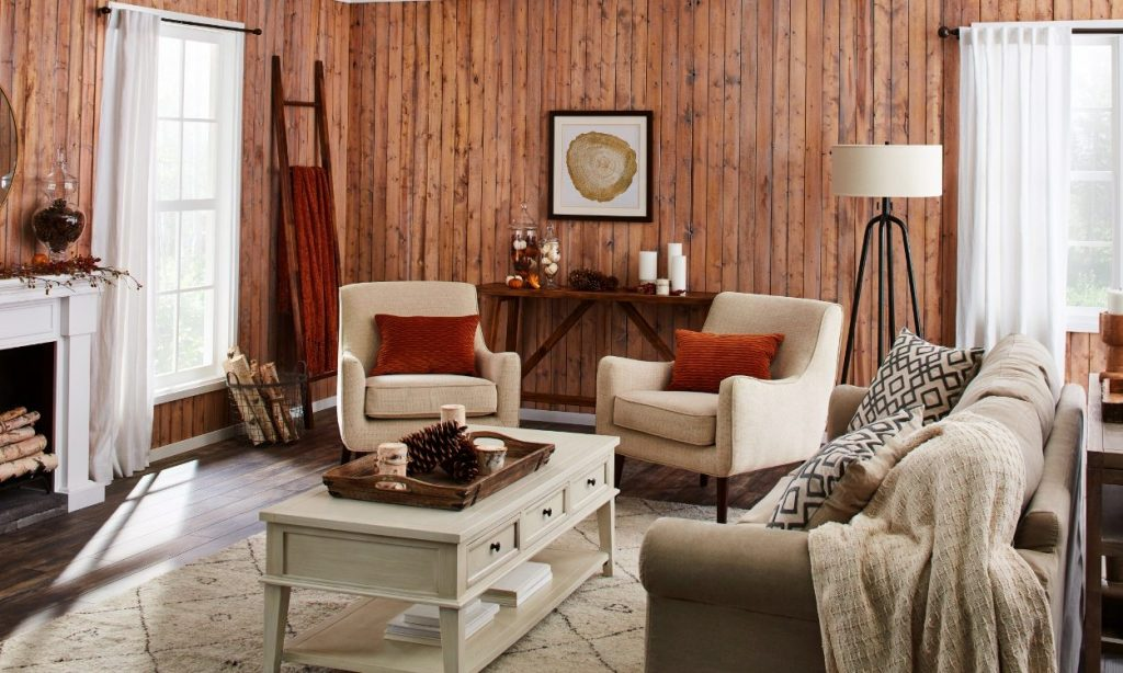 This Rustic Fall Living Room Is What You Need This Year Overstock
