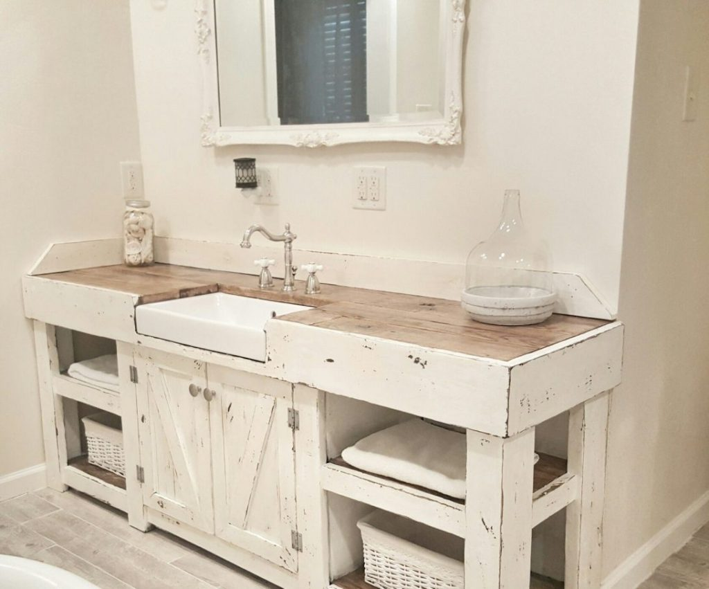 Top 54 First Rate Reclaimed Bathroom Vanity Farmhouse Style Country