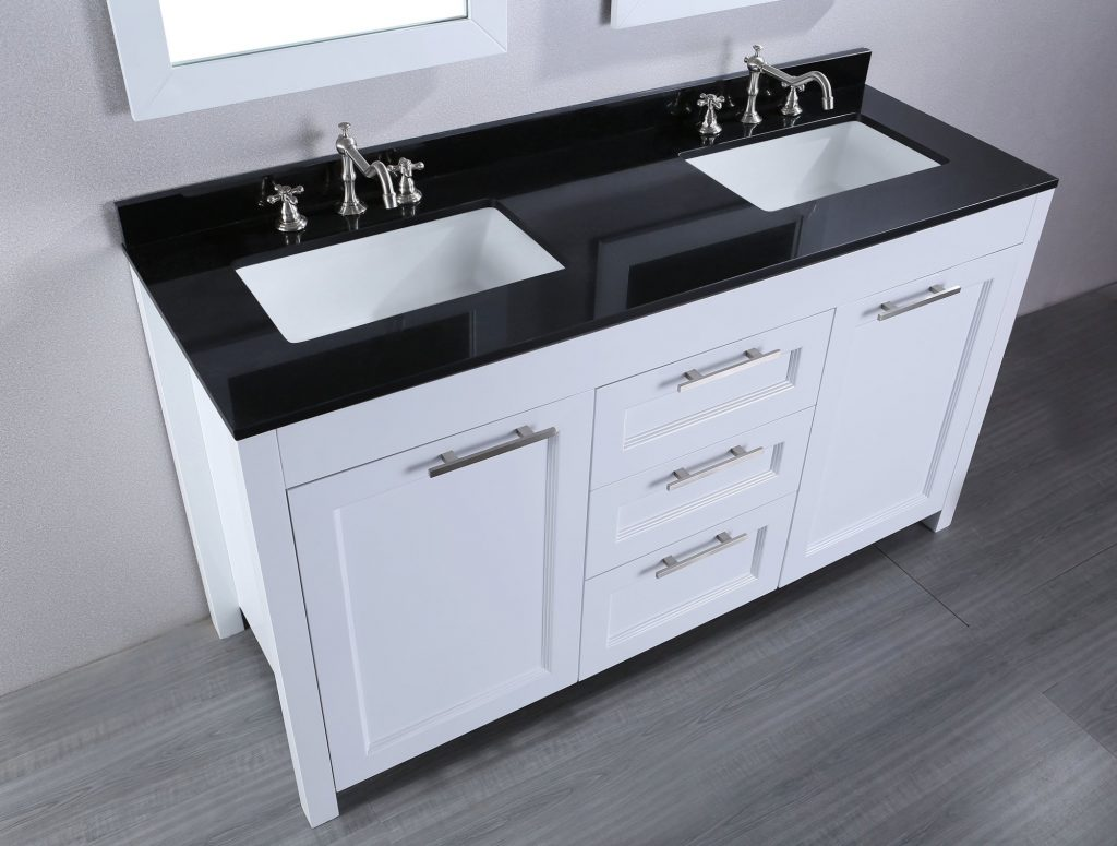 Top 56 Great Vanity Without 48 Bathroom With 60 Double Sink Black