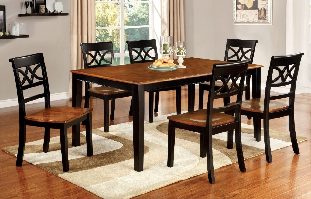 Torrington Country Style 7pcs Black Cherry Dining Table Set