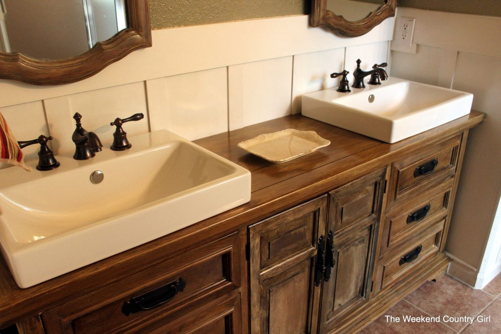 Turning A Dresser Into A Bathroom Vanity The Weekend Country Girl