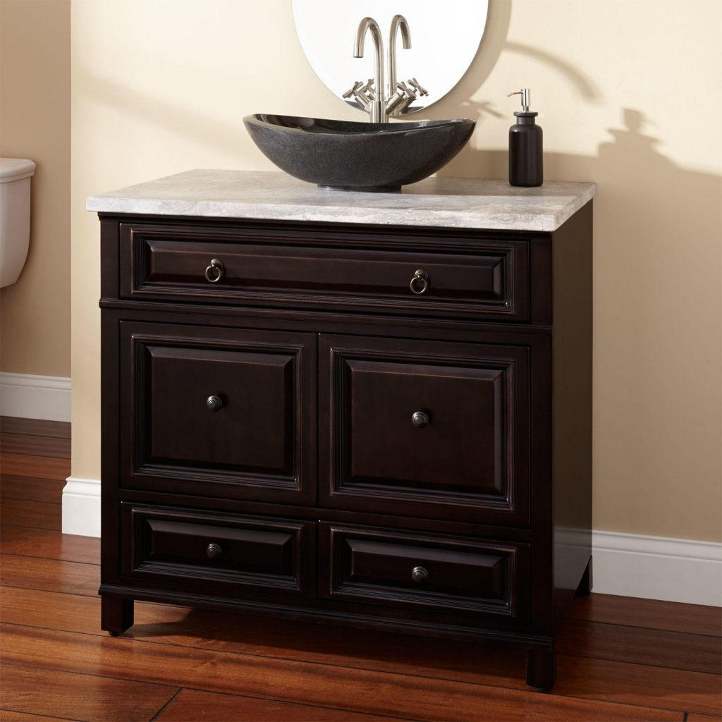 Unique Trend Bathroom Vanity With Vessel Sink Phobi Home Designs