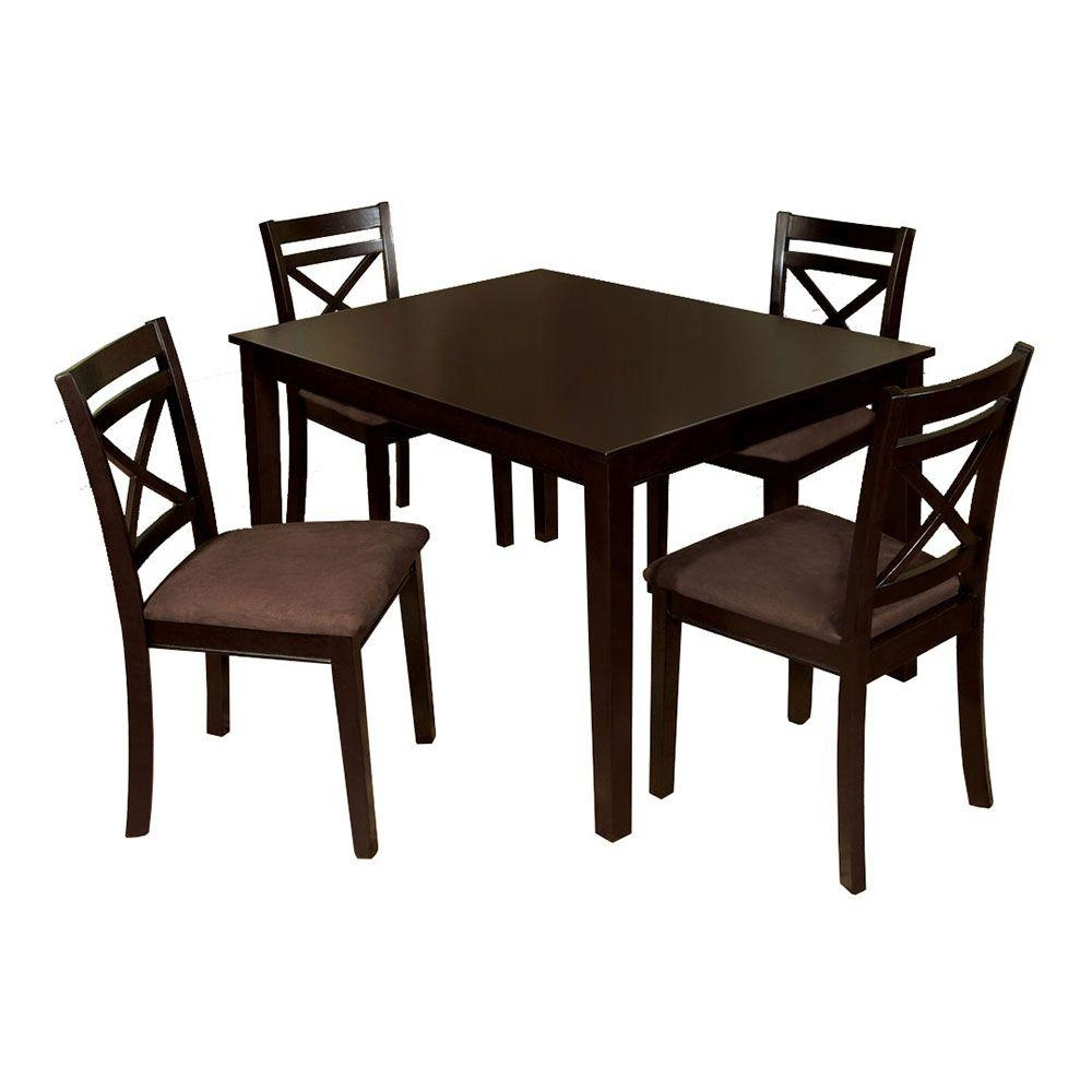Venetian Worldwide Weston I 5 Piece Espresso Dining Set Cm3400t 5pk