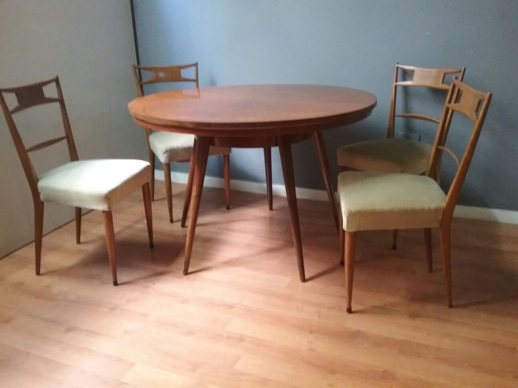 Vintage Dining Table Chairs 1950s For Sale At Pamono