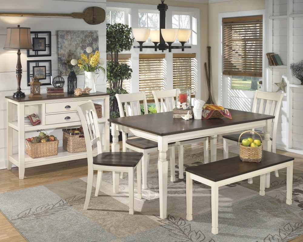 Whitesburg Table 4 Side Chairs Bench D5830002425 Dining