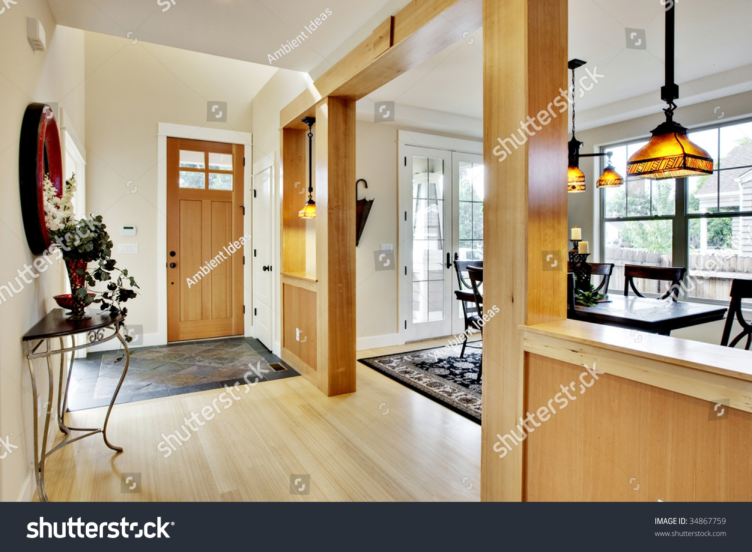 Wide View Home Entrance Hallway Dining Stock Photo Edit Now – layjao