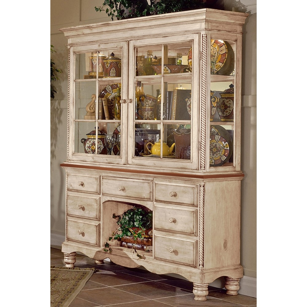 Wilshire Wood Buffet Table W Optional Hutch In Antique White