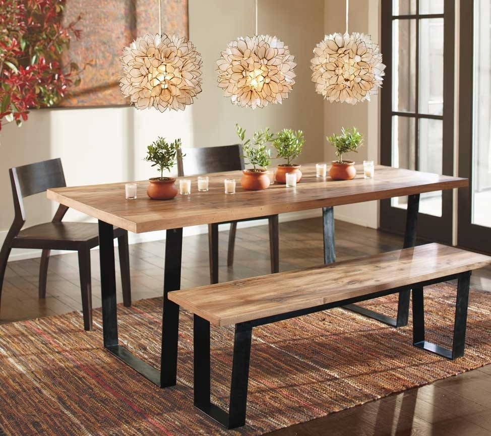 Wood Table With Bench Seat Dining Room Furniture Dining Room Bench