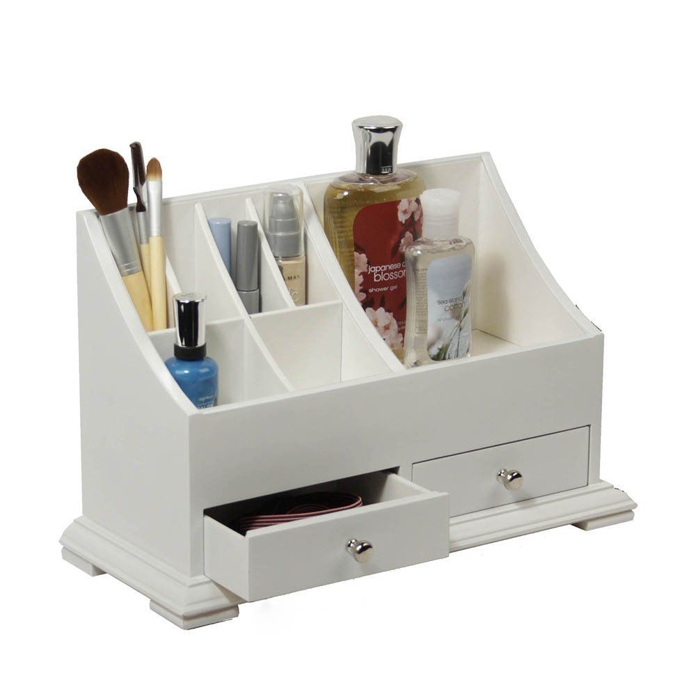Wooden Makeup Organizer Works Great For Organizing Your Vanity Or