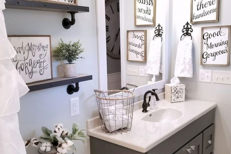 110 Spectacular Farmhouse Bathroom Decor Ideas In 2018 Ideas For