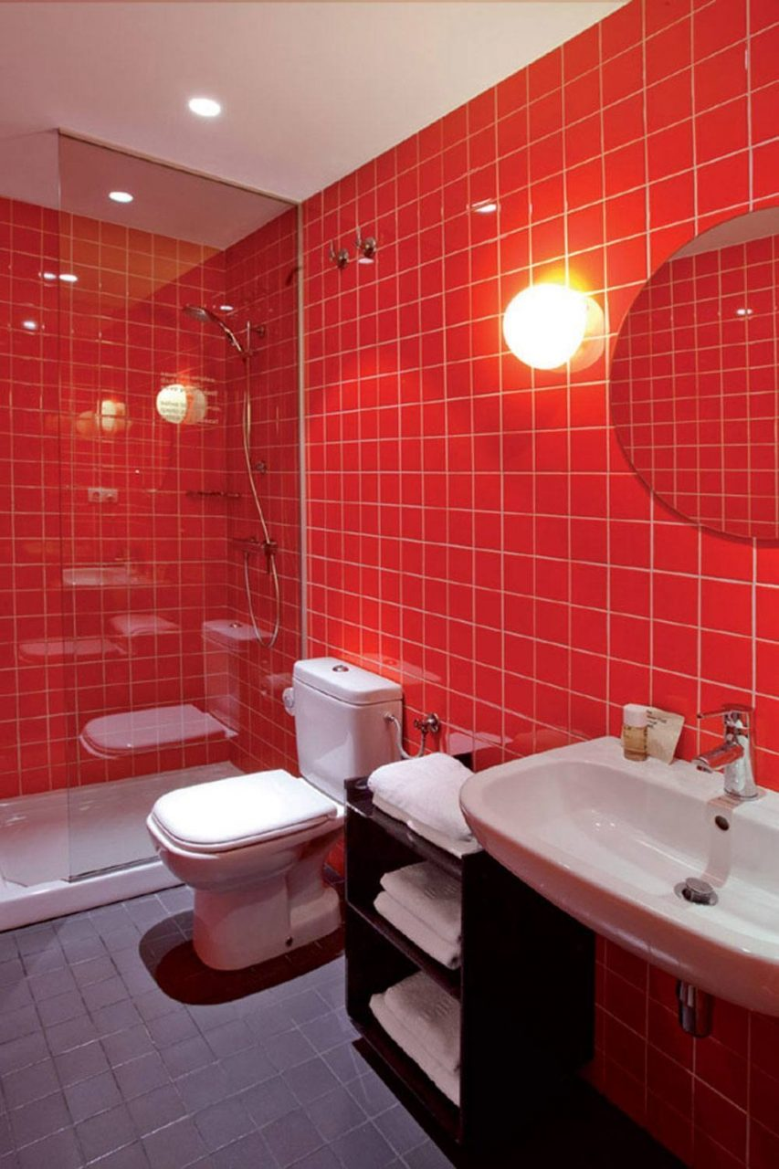 20 Bold And Hot Red Bathroom Design Ideas With Pictures