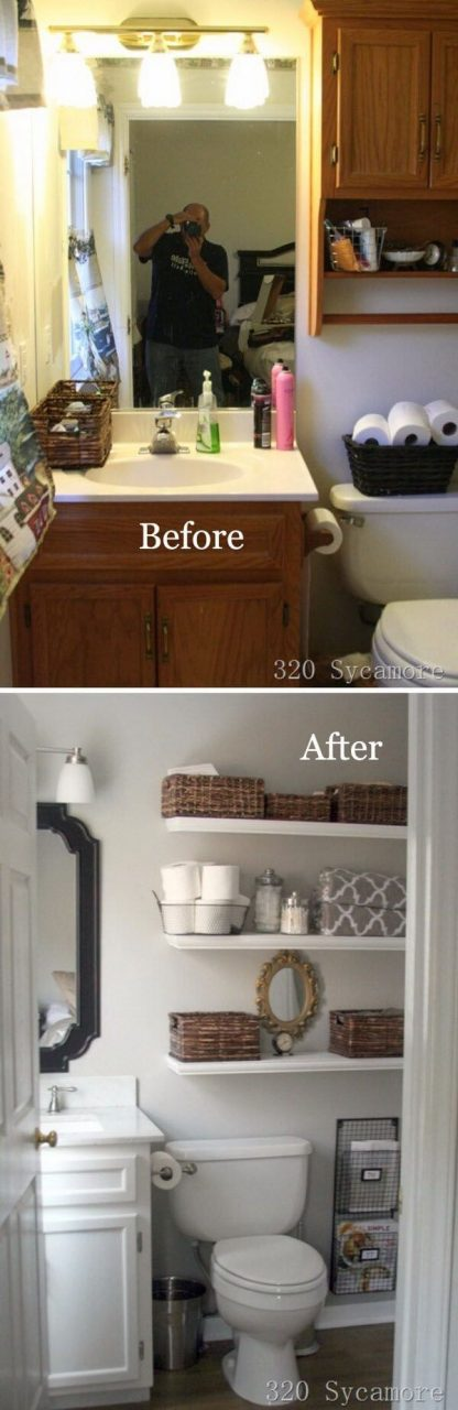 25 Best Diy Bathroom Shelf Ideas And Designs For 2018