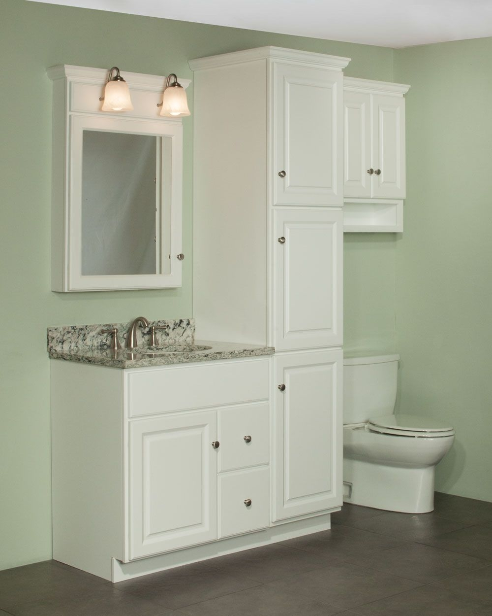 30 Quentin Vanity And Linen Cabinet Ensemble The Newport Door