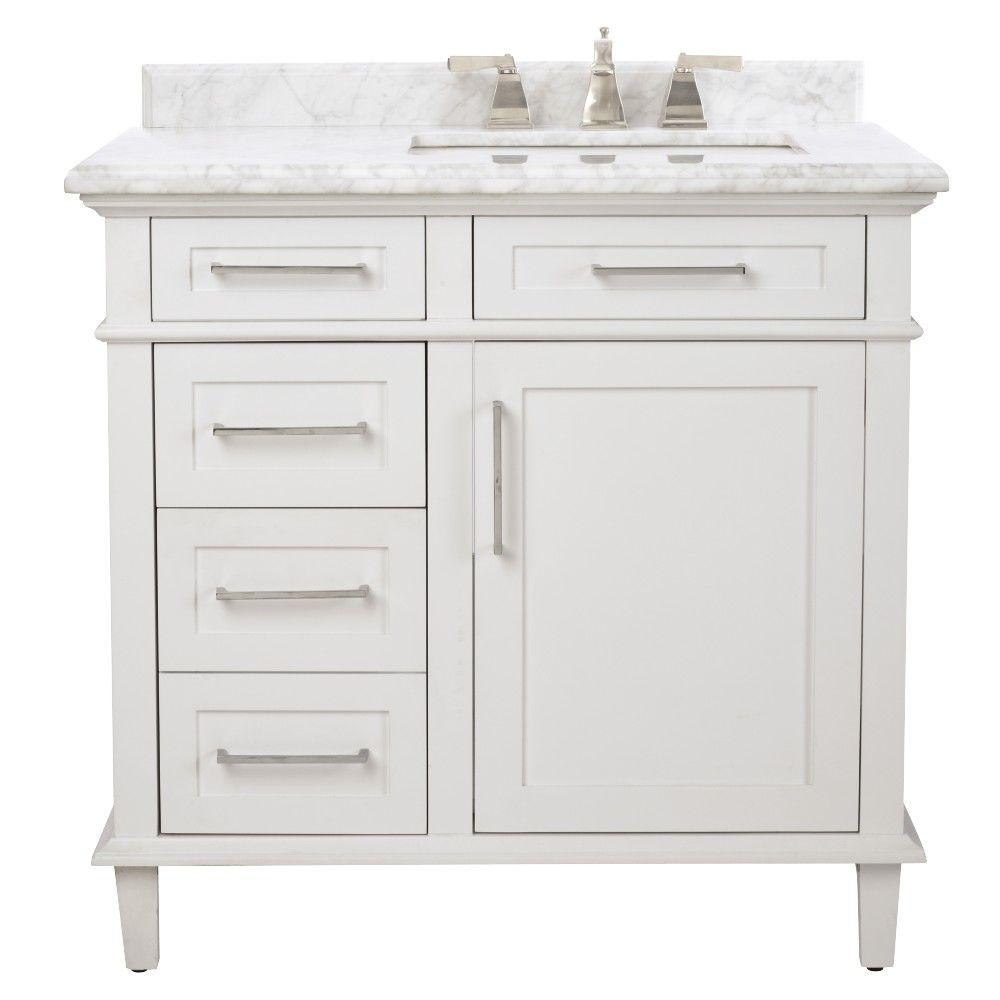 36 Inch Vanities 35 37 In Bathroom Vanities Bath The Home Depot