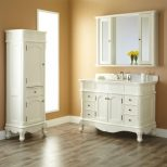 77 Bathroom Vanity And Linen Cabinet Sets Neutral Interior Paint