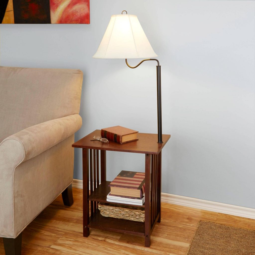 Absolutely End Table Lamp For Living Room Home Design Plan Wood